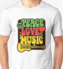 Rasta Peace, Love, Music T-Shirt