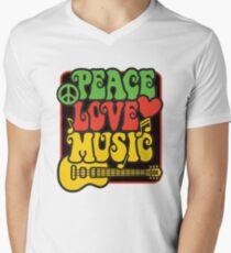Rasta Peace, Love, Music T-Shirt