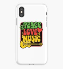 Rasta Peace, Love, Music iPhone Case/Skin