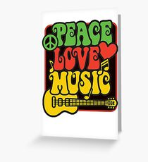 Rasta Peace, Love, Music Greeting Card