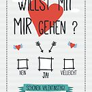 Valentinskarte von pixelcafe