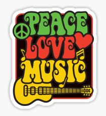 Rasta Peace, Love, Music Sticker