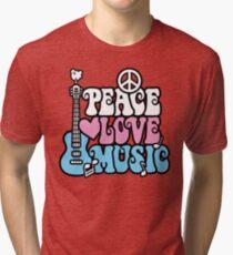Peace, Love, Music Tri-blend T-Shirt