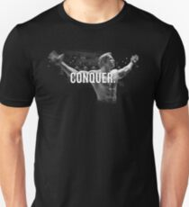Arnold Schwarzenegger Mr. Olympia Conquer Unisex T-Shirt