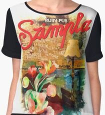 Ruin Pub Szimpla Lounge with Flowers in Budapest Chiffon Top