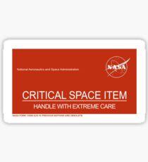 NASA Critical Space Item Sticker