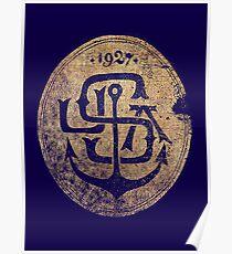 1927 Navy Emblem Poster