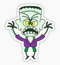 Scary Halloween Frankenstein Emoticon Sticker