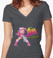 Jim Women's Fitted V-Neck T-Shirt