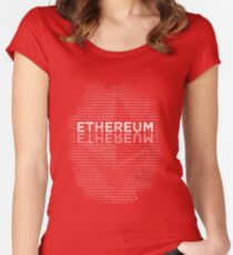 Ethereum binary Women's Fitted Scoop T-Shirt