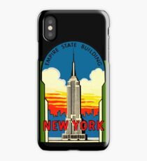 Empire State Building New York City Vintage Travel Decal iPhone Case/Skin