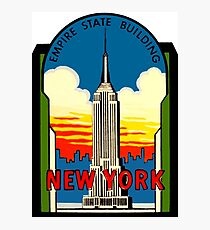 Empire State Building New York City Vintage Travel Decal Photographic Print