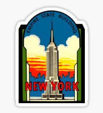 Empire State Building New York City Vintage Reise Aufkleber Sticker
