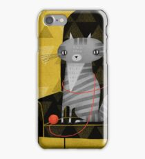 SEATED GRAY TABBY iPhone Case/Skin