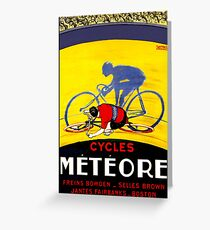 TOUR DE FRANCE; Meteore Bicycle Racing Print Greeting Card