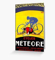 TOUR DE FRANCE; Meteore Bicycle Racing Print Greeting Card
