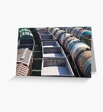 transportation of goods by rail Greeting Card