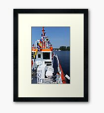 naval flags on a warship Framed Print