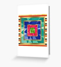 Geometric pattern,multi pattern,multi color,modern,trendy,pattern Greeting Card