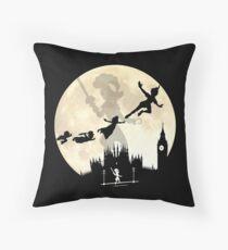 Full Moon Over London Throw Pillow