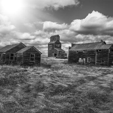 Ghost Town - Bents, Saskatchewan, Canada - BW by TheKav