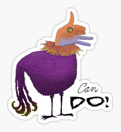 Can Do Thumbs Up Bird Sticker