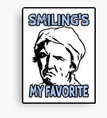 Ironic Smiling is my Favorite Canvas Print