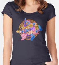 Toon Dark Magician Girl Women's Fitted Scoop T-Shirt