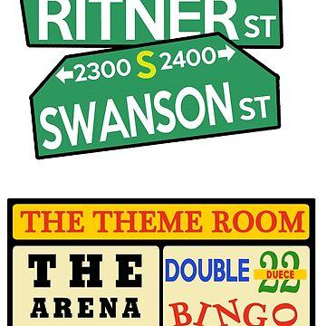 ECW Sticker Pack - Swanson Ritner St + Bingo Sign by DannyDouglas96