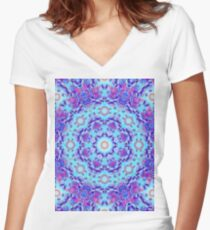 Psychedelic Visions Women's Fitted V-Neck T-Shirt