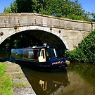 Narrowboat on the canal by John Wallace