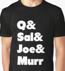Impractical Jokers Line-Up (Font 1) (White Text) Graphic T-Shirt