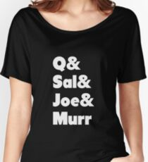 Impractical Jokers Line-Up (Font 1) (White Text) Women's Relaxed Fit T-Shirt