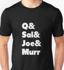 Impractical Jokers Line-Up (Font 1) (White Text) T-Shirt