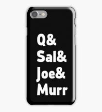 Impractical Jokers Line-Up (Font 2) (White Text) iPhone Case/Skin
