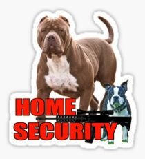 Pit bull Boston terrier security Sticker