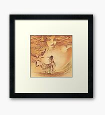 """""""OCTOBER"""" from the series """"Calender Sheets"""" Framed Print"""
