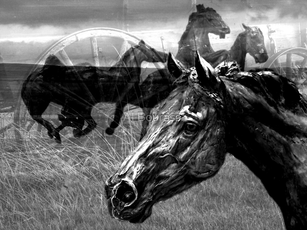 Western Montage  by Al Bourassa