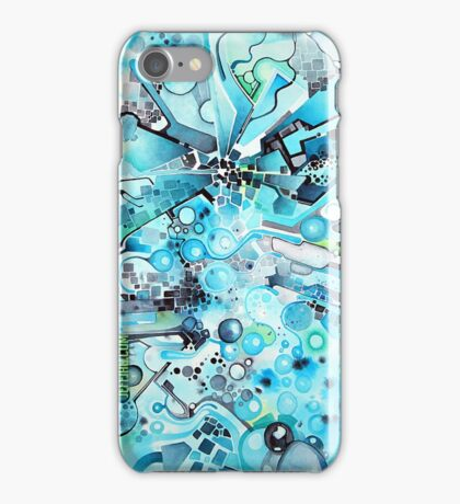 Water Crystals - Abstract Geometric Watercolor Painting iPhone Case/Skin