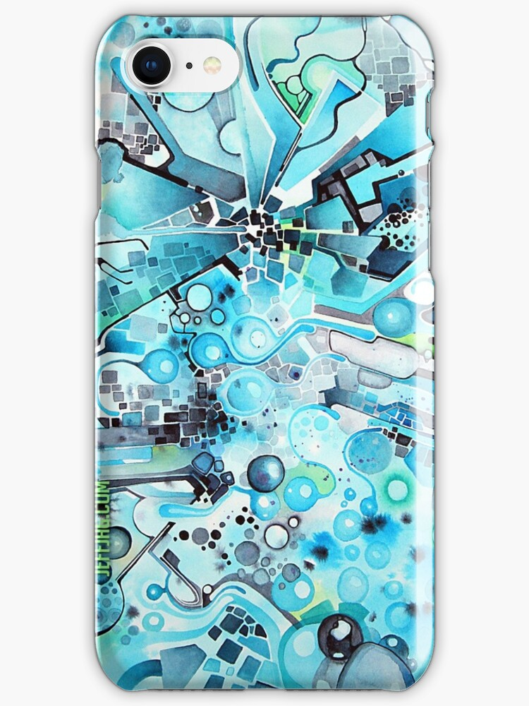 Water Crystals - Abstract Geometric Watercolor Painting by jeffjag