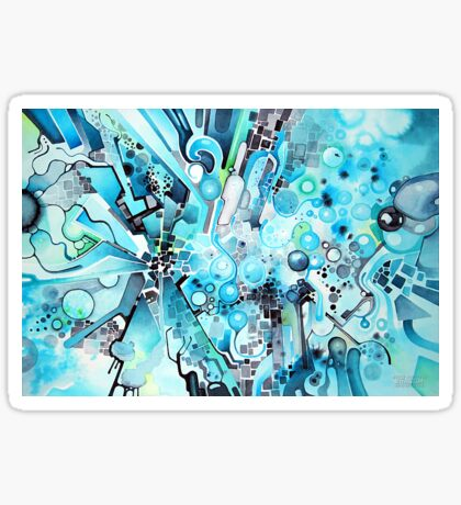 Water Crystals - Abstract Geometric Watercolor Painting Sticker