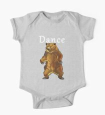 Retro Upright Standing Bear One Piece - Short Sleeve