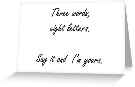 3 words 8 letters greeting cards by theladyinred redbubble 3 words 8 letters by theladyinred m4hsunfo