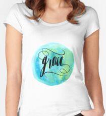 Gottes Gnade Tailliertes Rundhals-Shirt