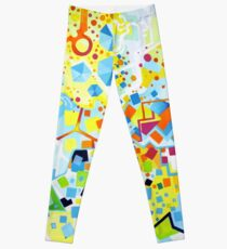 Birth of the Circle - Abstract Acrylic Canvas Painting Leggings