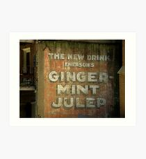Ginger-Mint Julep Art Print