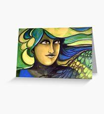 Green Goddess. Greeting Card