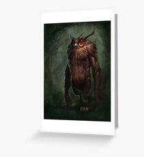 Owlman Greeting Card