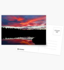 Sunset Reflecting Off Seawall Pond Acadia National Park Postcards