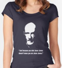 Mike Ehrmantraut breaking bad please change colour to view Women's Fitted Scoop T-Shirt
